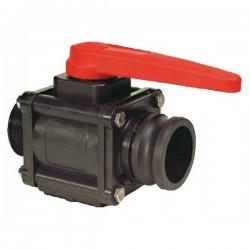 "2-way ball valves 1 1/2""M - Camlock 453, ARAG"
