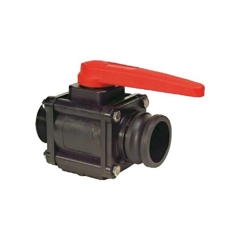 "2-way ball valves 3""M - Camlock 453, ARAG"