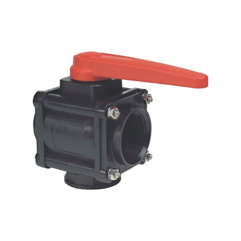 "3-way ball valve 1 1/2""F - low coupling 453, ARAG"