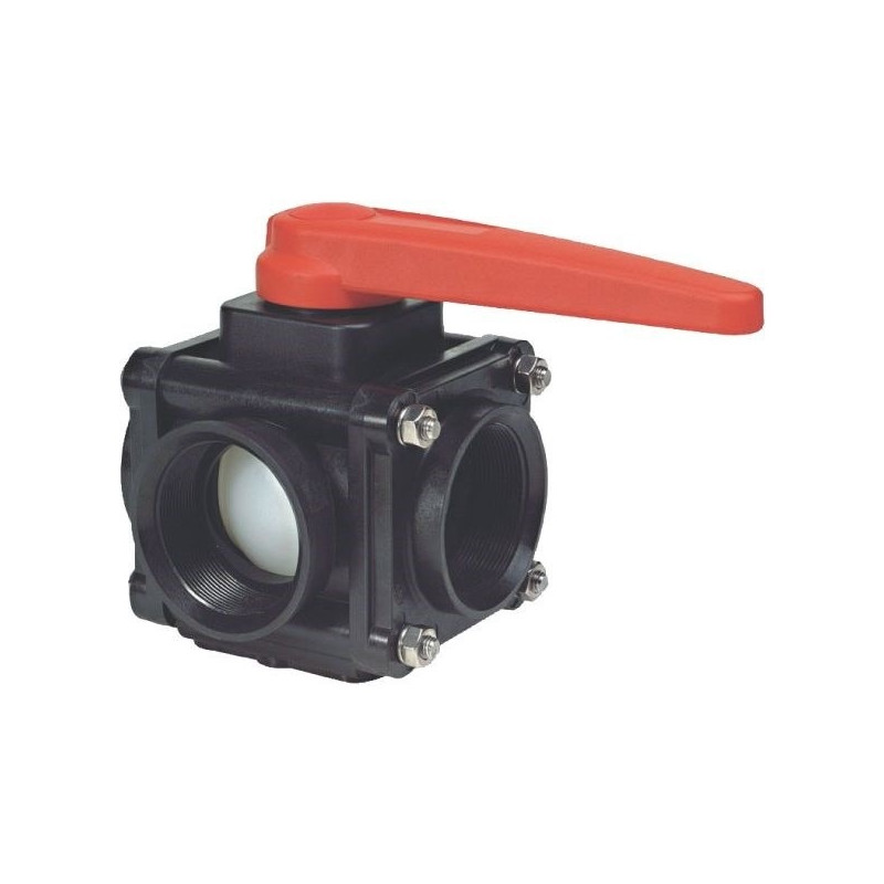 "3-way ball valve 2""F - side coupling 453, ARAG"