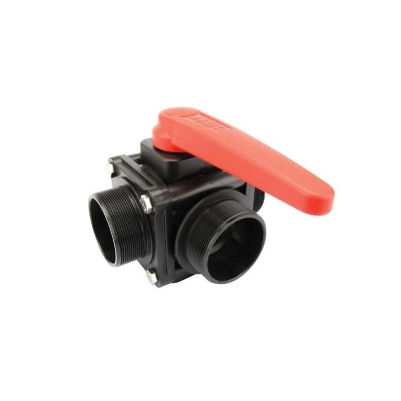 "3-way ball valve 3""M - side coupling 453, ARAG"