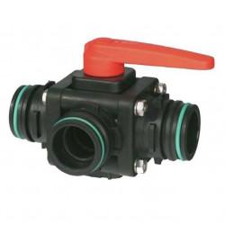 3-way ball valve T6 - side coupling 453, ARAG