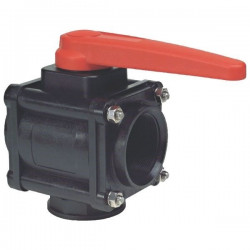 "3-way ball valve 1""F - low coupling 453, ARAG"