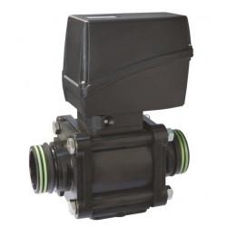 Elektryczny zawór kulowy 2-drożny przyłącze widełkowe, UHMW, CANbus, ARAG