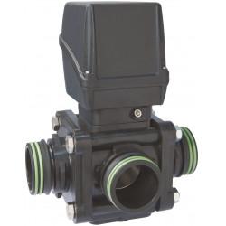 Elektryczny zawór kulowy 3-drożny boczne przyłącze widełkowe, AISI 316, ARAG