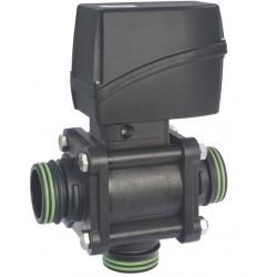 Elektryczny zawór kulowy 3-drożny przyłącze widełkowe dolne, AISI 316, ARAG