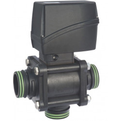 Elektryczny zawór kulowy 3-drożny przyłącze widełkowe dolne, UHMW, CANbus, ARAG