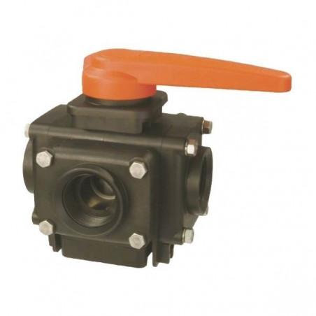 "4-way ball valve 1 1/4""F 453, ARAG"