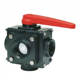 "5-way ball valve 1 1/2""F 453, ARAG"