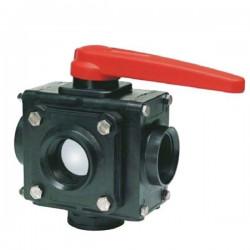 "5-way ball valve 1 1/4""F 453, ARAG"