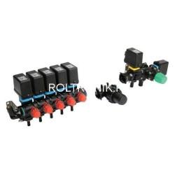 Elektryczny osprzęt regulacyjny 5 sekcji, 180l/min, 20 bar ARAG