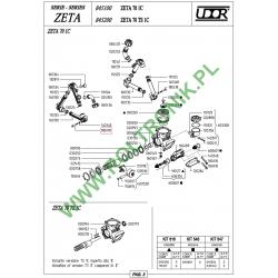 Śruba kolektora Udor Zeta 70