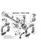 Parts for Bertolini Poly 2180