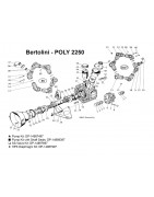 Parts for Bertolini Poly 2250/2260