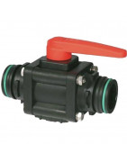 2-way ball valves with fork coupling, series 453