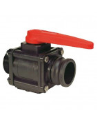 2-way ball valves with adapter Camlock, series 453