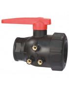 2-way threaded ball valves, series 455