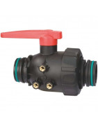 2-way ball valves with fork coupling, series 455