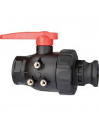 2-way ball valves with adapter Camlock, series 455