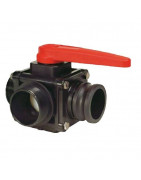 3-way ball valves with adapter Camlock, series 453