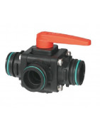 3-way ball valves with spade connector, series 453