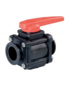 2-way ball valves with connector flange, series 453